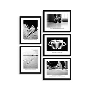 Collage Postales 15x20cm con marco negro